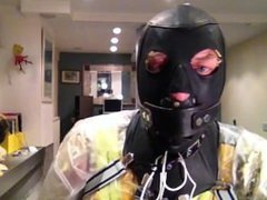 Fetish dressing, vidz bondage in  super masks