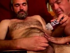 Straight dilf vidz bear loves  super jizz in beard