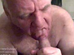 Horny Silverdaddies vidz Grandpa Loves  super Sucking Uncut Cock