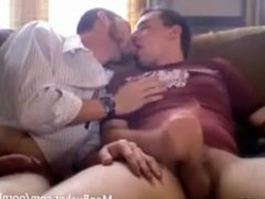 Two Average vidz Guys Kissing  super and Playing Around With Their Cocks on the Couch