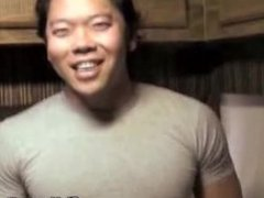 Muscled Asian vidz Guy Jacks  super Off His Cock