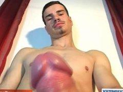 Football player vidz with huge  super balls !