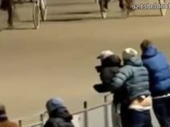 WTF Norweigan vidz Gay Couple  super Caught Having Sex At A Horse Race !