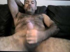 Hairy Daddy vidz Couch Cumpilation