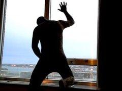 bad lighting vidz but leopard  super jerking off in hotel window