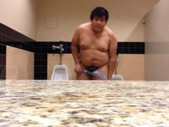 Chubby Boy vidz Completely Nude  super In Public Restroom