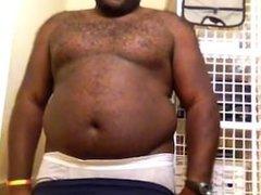 Black Chubby vidz Boy Strips  super Before Shower