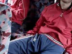 Teamate sleepin vidz in bus  super with hardon