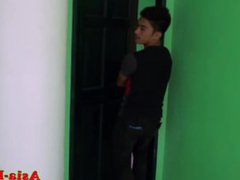 Asian twink vidz caught stealing  super pays with bareback anal