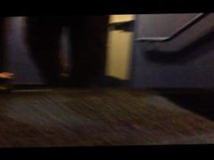 Chub With vidz Small Dick  super Stripping By Theater's Stairs