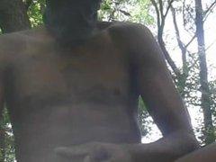 BIG BLACK vidz COCK CUMSHOT  super OUTDOORS (FOLLOW PORNBOYPGH☆☆☆)