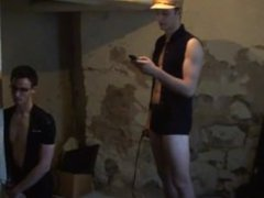 Raven Haired vidz Twink Gets  super Ass Beat While Sexy Dom Gives Orders