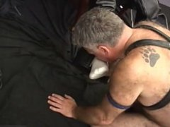 Kinky Leather vidz Bear and  super Daddy Suck, Fuck, and Blow