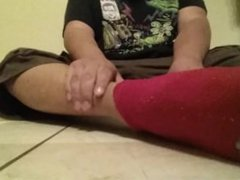 Chubby Boy vidz Strips Then  super Shows Off Feet And Tiny Dick For Friend