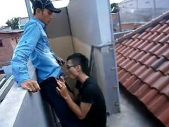 Indonesian Boys vidz On The  super Rooftop