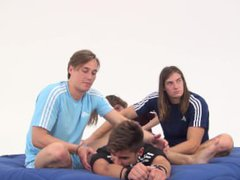 Spanish Guy vidz Lead-Tickled by  super Hot Blonde Swede and Others - Vincentiu Vlad