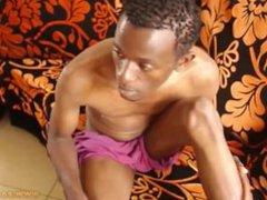 Black African vidz Twink Strokes  super His Big Dick and Cums