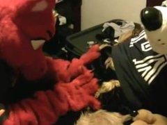 German Shepherd vidz Meets a  super Dragon