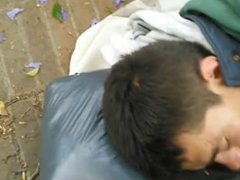 Dude Cums vidz On Sleeping  super Stranger In Public