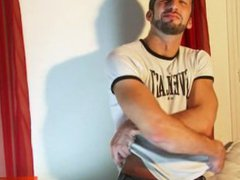 Italian stalion vidz gets wanked  super his huge cock by a guy !