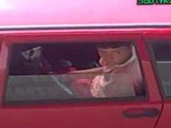 Boy caught vidz wanking off  super in car