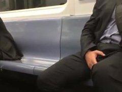 A Guy vidz and his  super Boner on the Train
