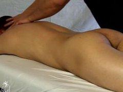 Massaging a vidz Straight Guy  super 8
