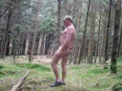 Forest stripping vidz off walking  super naked