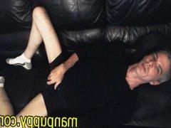 Smoking Fetish vidz Masturbation with  super HUGE Cumshot from DILF Manpuppy