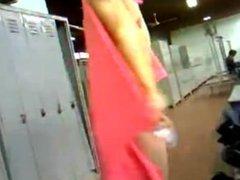 Lockerroom Spycam vidz - Big  super Dicked Stud dries off