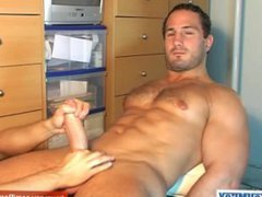 Enzo's big vidz dick gets  super shaked by a guy in spite of him !