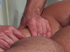 Locker Room vidz Muscle Massage  super Daddy Gets Hole Drilled