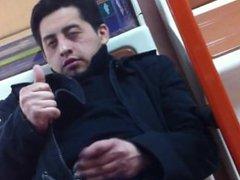 Spy wank vidz on train