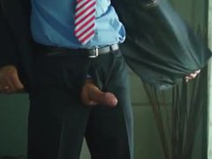 DADDY IN vidz SUIT CUMS  super ON FLOOR