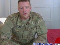 Sexy Sergeant vidz Jerks Off