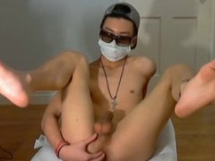 Hot Asian vidz Boy Playing  super With His Cock and Hole (Long Version)