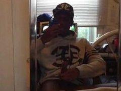 Ebony dude vidz jacking off