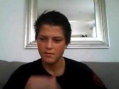 Danish 18 vidz Yo Teen  super Boy - I Am Horny With Stiff Cock & Cumshot On Cam