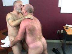 Bear sex vidz in the  super office