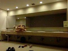 Hot Asian vidz Dude Gets  super Off in Public Bathroom