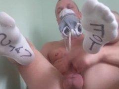 Swedish Foot vidz Slave Socks  super Jerk Off