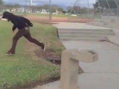 skater boy vidz gets drilled  super and shredded by squad, gnarly af