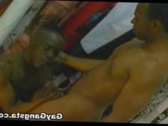 Black Gay vidz Having Bareback  super Sex by Big Black Cock