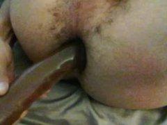 Fucking my vidz tight ass  super with a dildo