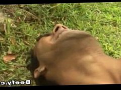 Horny Muscle vidz Gay Gets  super His First Time Fuck In The Garden