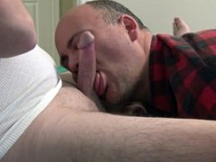 Deepthroat and vidz Ass-Worship Makes  super Hard Cock Shoot Two Big Loads