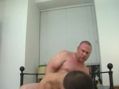 Chubby, masculine vidz straight guy  super pounds poor Bobby hard