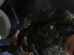 Korean's soilder's vidz cautched jerking  super off in toilet and eating his own cum