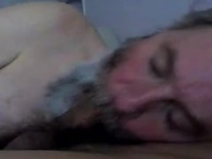 Old white vidz man likes  super to suck the brown dick.