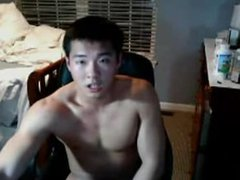 Fit asian vidz stud jerks  super off and cums on webcam